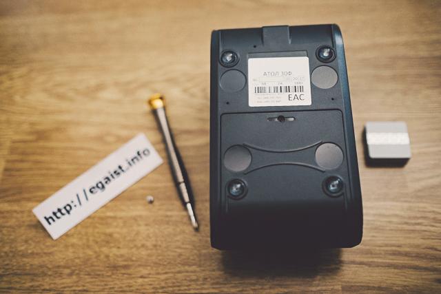 ККТ АТОЛ 30Ф, фискальный накопитель, разобрать корпус, инструкция по разборке, замена ФН